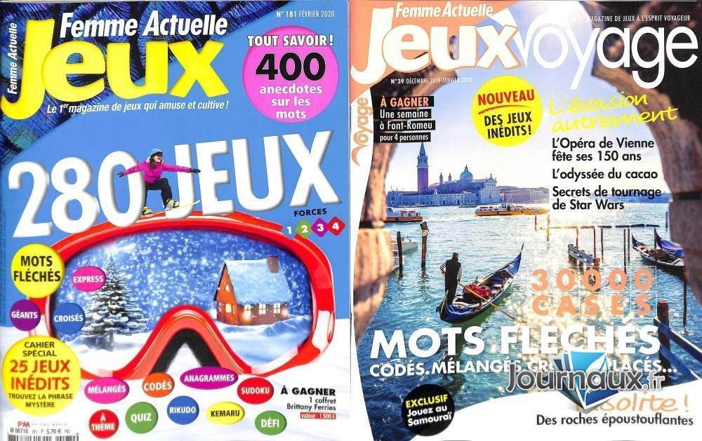 www.journaux.fr - Femme Actuelle Jeux + Jeux Voyage
