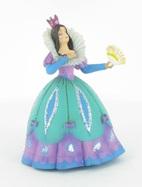 Princesse à l'éventail en robe bleue