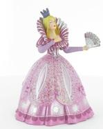 Princesse à l'éventail robe rose