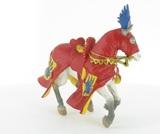 Cheval cabré - Robe rouge et jaune