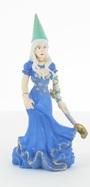 Fée en robe bleue