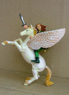 Pégase avec l'elfe cavalier