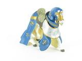 Cheval drapé bleu