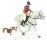Le Set Equitation : Cheval Andalou avec selle, cavalier, chien de ferme