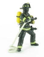 Pompier US à la lance