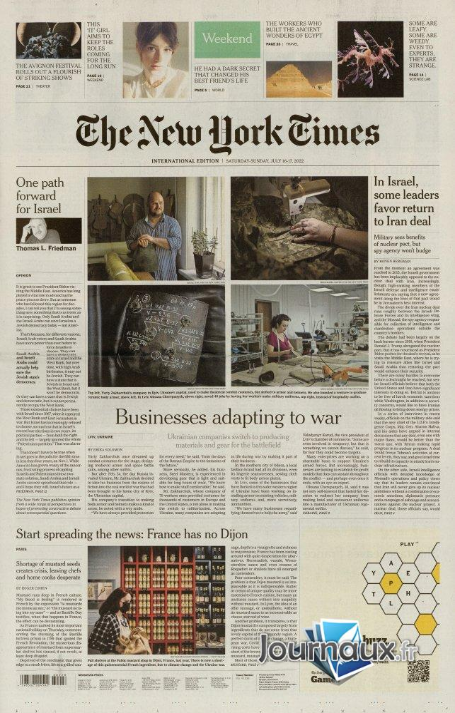 International New York Times - 26 Octobre 2021