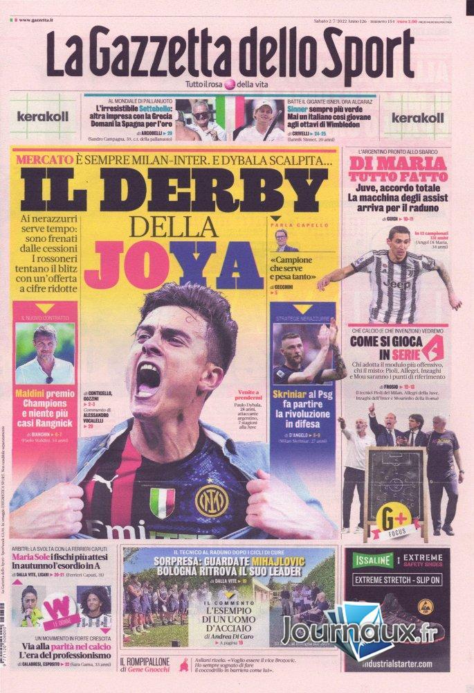 La Gazzetta Dello Sport - 20 septembre 2021