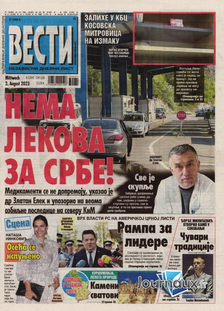 Vesti Cyrillique - 22 Octobre 2021