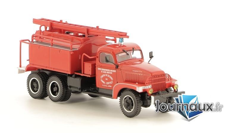 Le Camion-Citerne Lourd Pour Feux De Forêt Froger Sur GMC Des Sapeurs-Pompiers De Grand-Quevilly (Seine-Maritime)