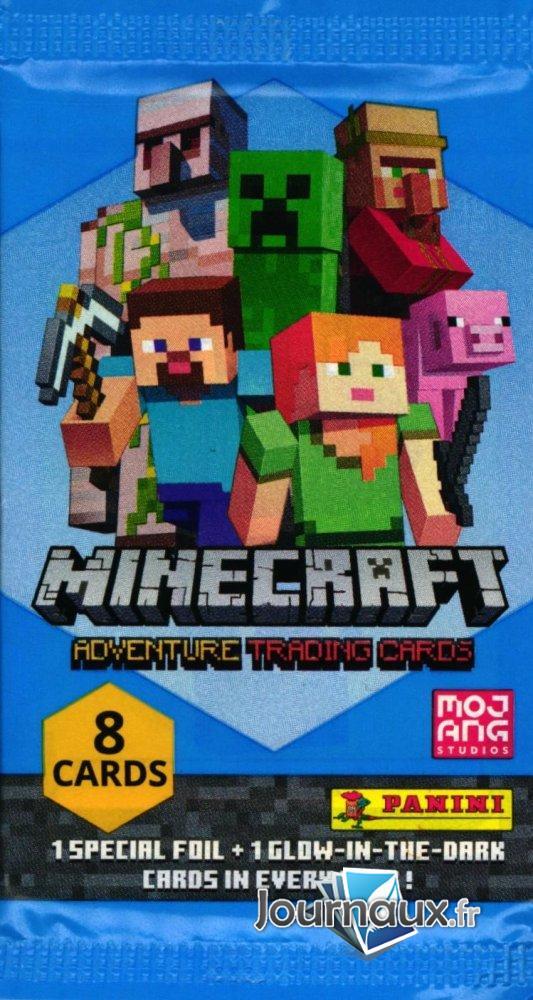 Pochette 8 Cartes Minecraft Adventure