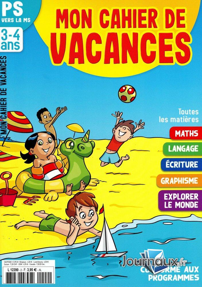 Mon Cahier de Vacances PS -> MS