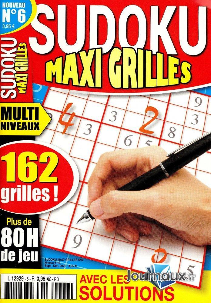 Sudoku Maxi Grilles Niv 6/10