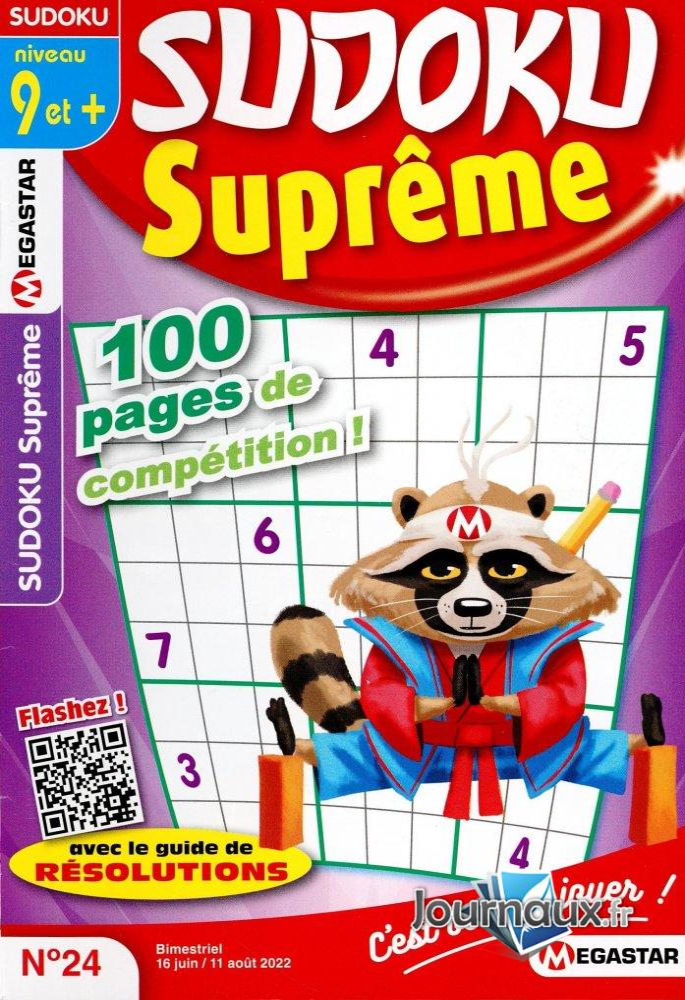 MG Sudoku Suprême Niv 9 et +