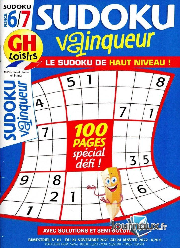 GH Sudoku Vainqueur Niv 6/7