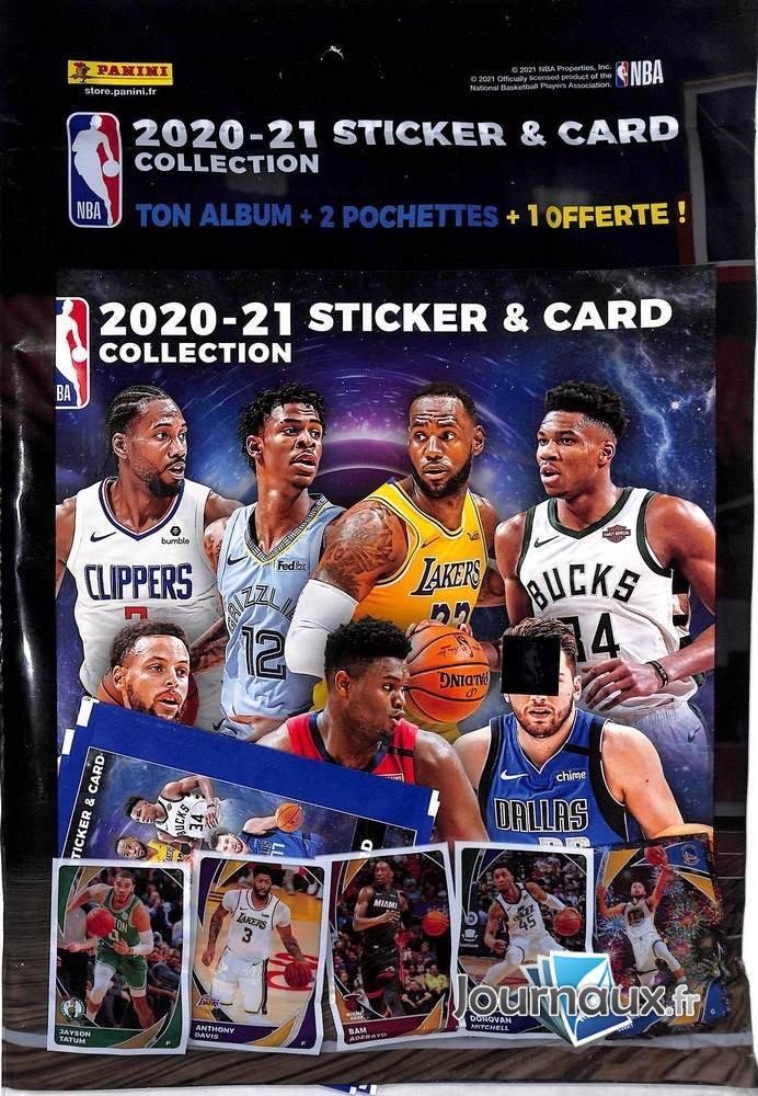 NBA 2020/2021 Album + 2 Pochettes Panini
