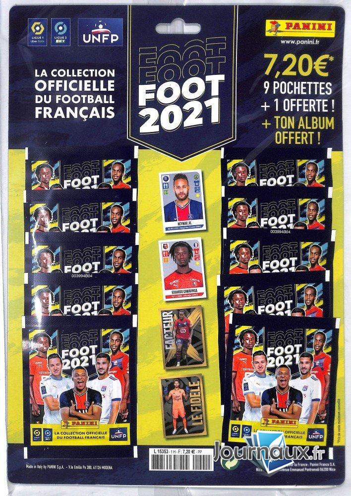 Panini Pack Album + 10 Pochettes Sticker Ligue 1/2 Football 2021