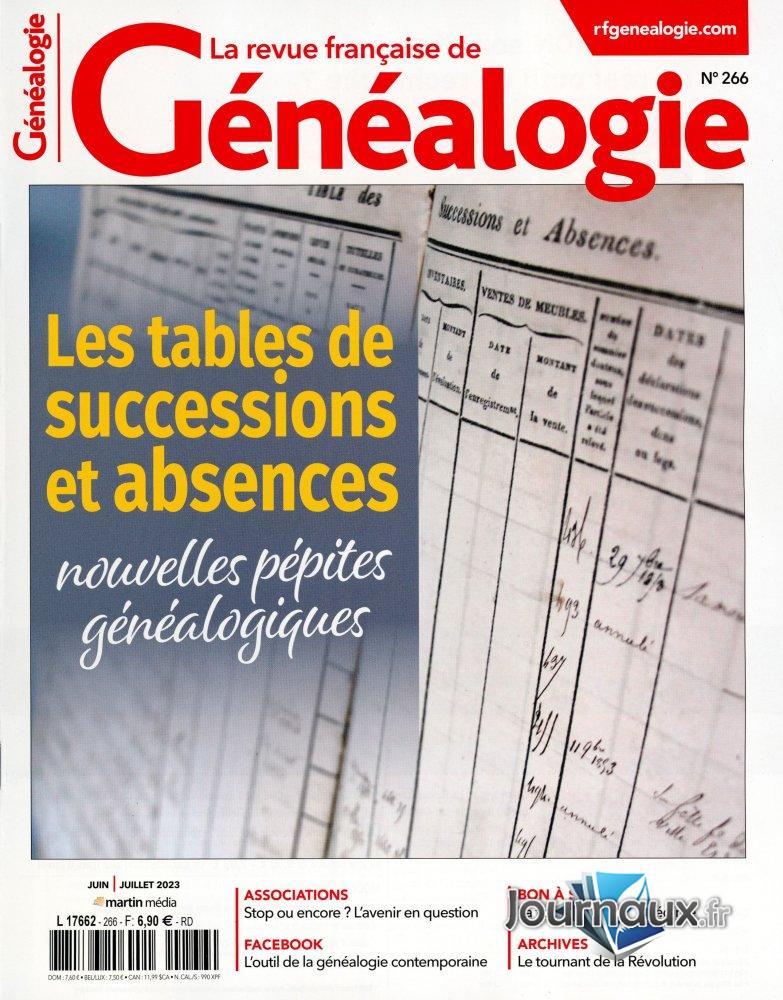 La Revue Française de Généalogie