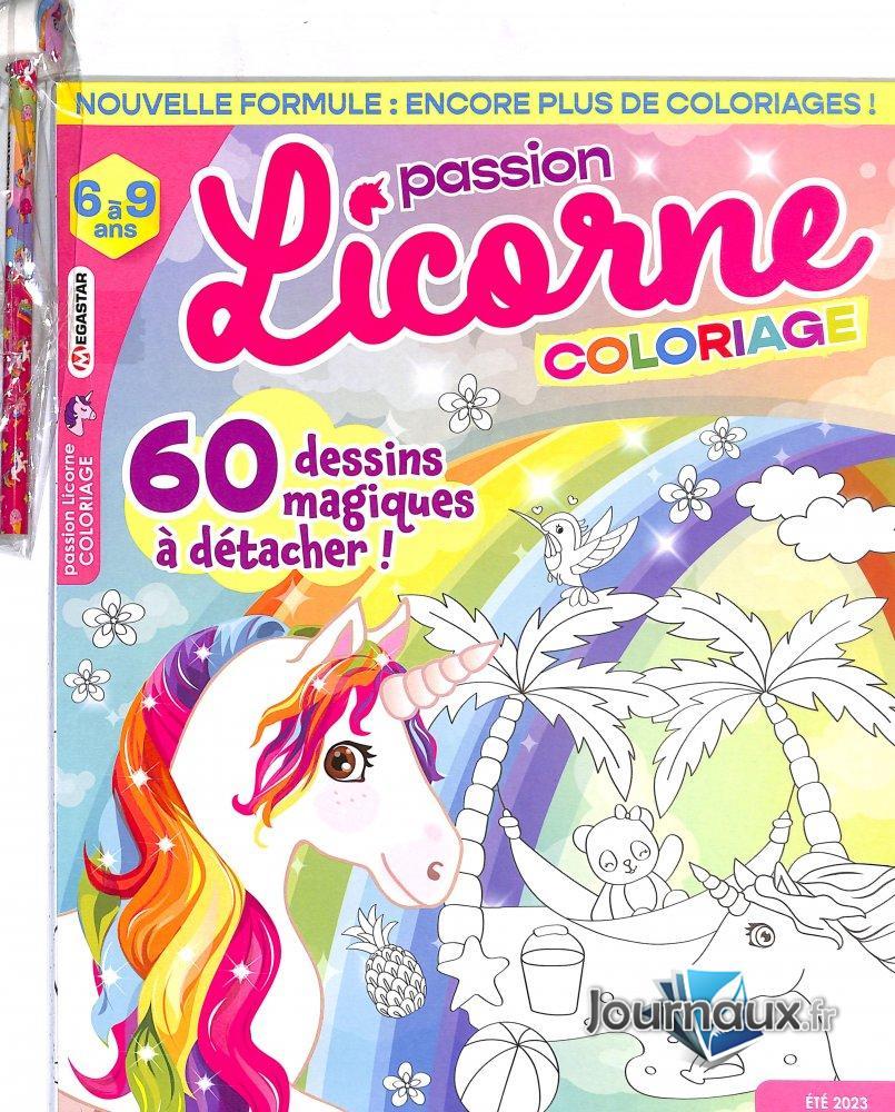 MG Passion Licorne Coloriage 6 à 9 ans