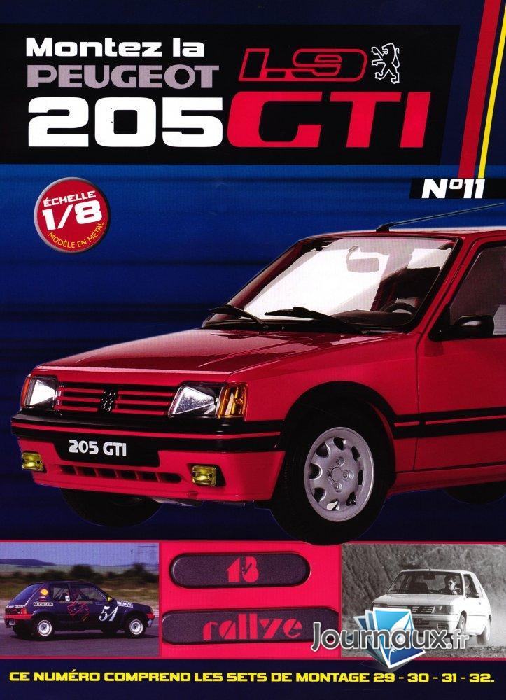 Construisez la Mythique Peugeot 1.9 205 GTI Sets de Montage 29-30-31-32