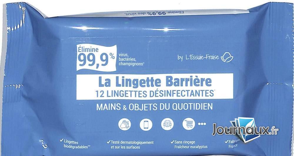 Lingette Barrière (12 Lingettes Désinfectantes)