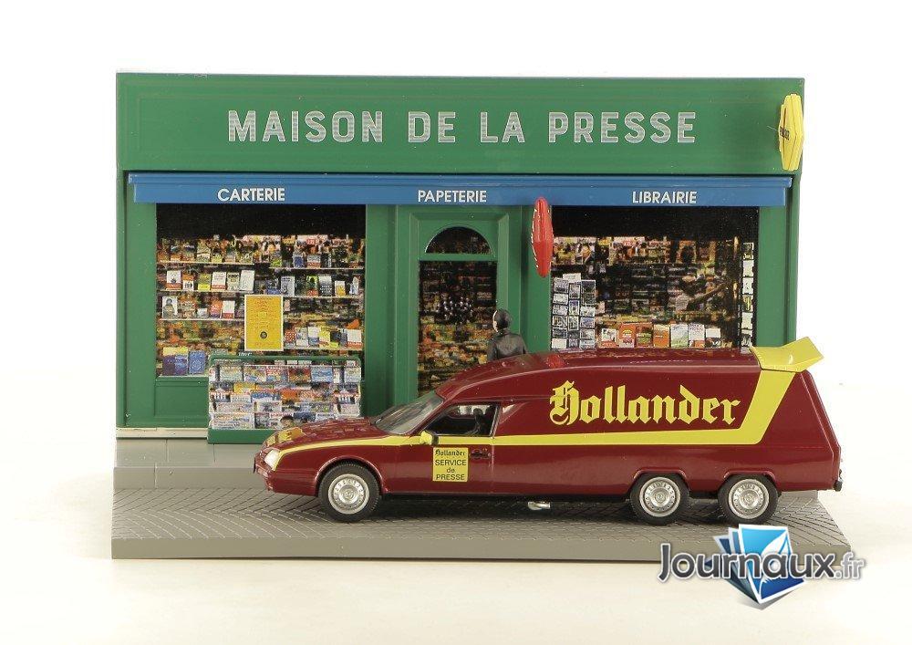 Le livreur de Journaux dans sa Citroën CX Tissier