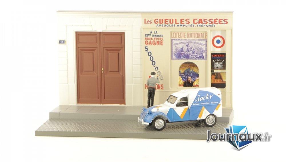 Le Peintre en Lettres et sa Citroën 2 CV Fourgonnette