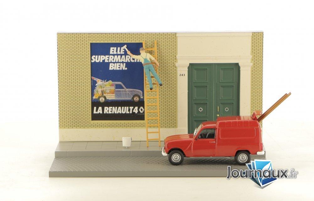 Le Colleur D'affiches dans sa Renault 4 F6
