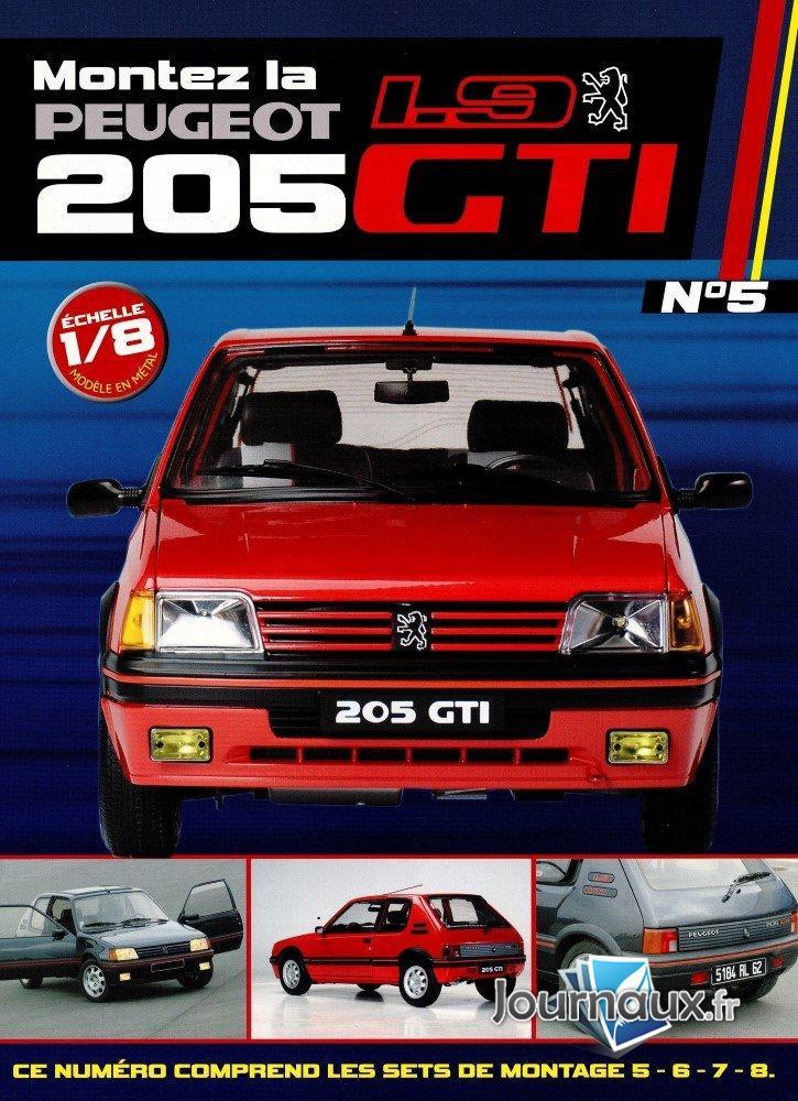 Construisez la Mythique Peugeot 1.9 205 GTI Sets de montage 5-6-7-8