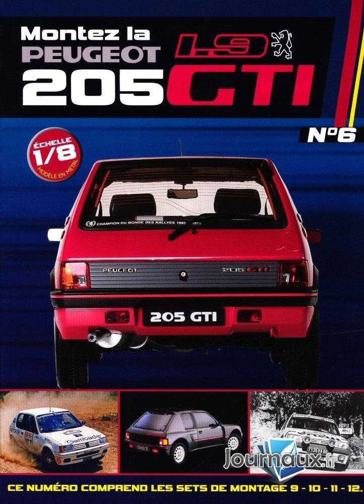Construisez la Mythique Peugeot 1.9 205 GTI Sets de montage 9-10-11-12