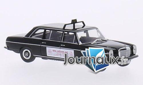 Mercedes 220 D Lang (V115), noire, Taxi (D) / Wulsch - 1968