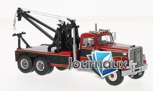 White Road Boss Tow Truck, rot/noire - 1977