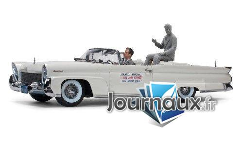Lincoln Continental Mk III Convertible, metallic-hellgrau, John F.Kennedy in Oregon, 1960 - 1958