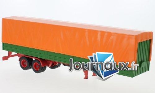 semi-remorque Semi remorque de Sprinter à plateau mit Plane, orange/grün