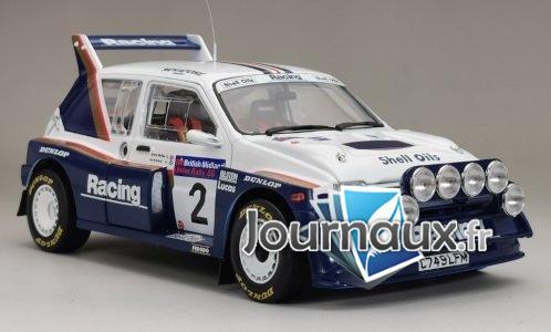 MG Metro 6R4, RHD, No.2, Rothmans Racing, Britannique Midland Ulster Rallye - 1986
