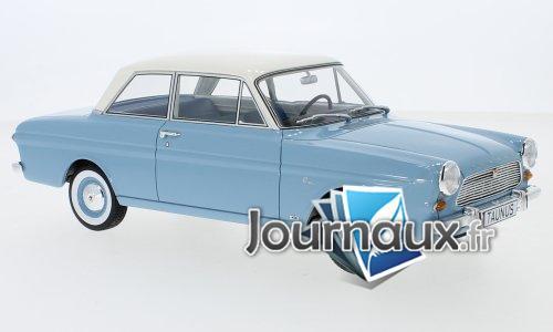 Ford Taunus 12M (P4) Limousine, bleu clair/blanc - 1965