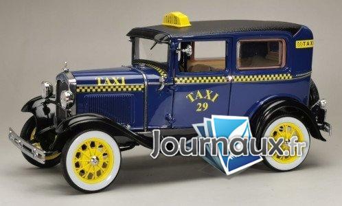 Ford Model A Tudor, bleu/noir, Taxi - 1931