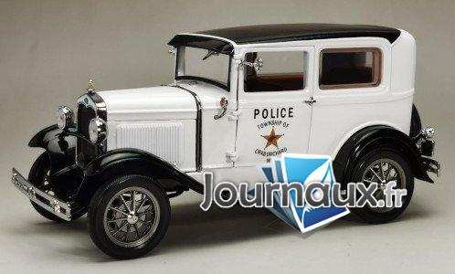 Ford Model A Tudor, weiss/noire, West Virginia Police - 1931