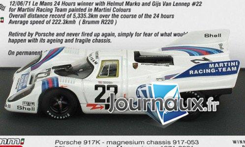 Porsche 917K, RHD, No.22, Martini racing Team, Martini, 24h Le Mans - 1971