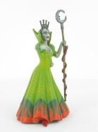 La sorcière en robe verte