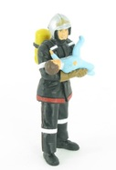 Pompier avec un enfant