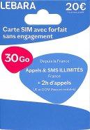 Lebara Carte SIM 30 Go