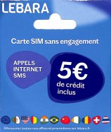 Carte SIM Sans  Engagement 5€ de crédit