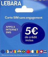 Carte SIM Lebara Sans Engagement 5€
