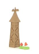 La Tour en bois et des champignons