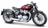 Triumph Bonneville Bobber, dunkelrot/schwarz