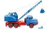 MAN camions grue mit Fuchs Bagger, blau - 1969
