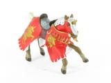 Cheval cabré rouge à la licorne