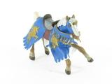Cheval cabré bleu à la licorne