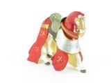 Cheval drapé rouge