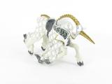 Cheval de maître des armes cimier licorne